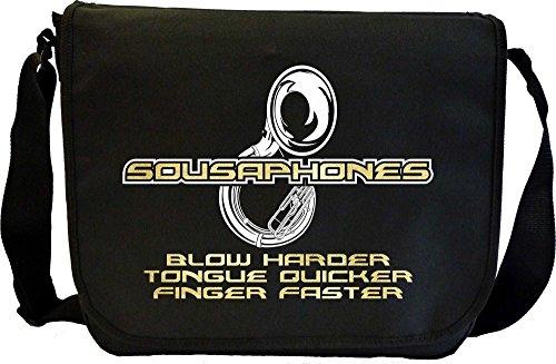 MusicaliTee Sousaphone Blow Harder - Sheet Music Document Bag Musik Notentasche