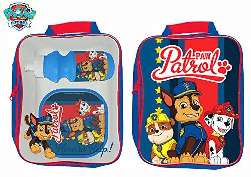 Nickelodeon Paw Patrol - Borsa termica per il pranzo con borraccia e contenitore per sandwich