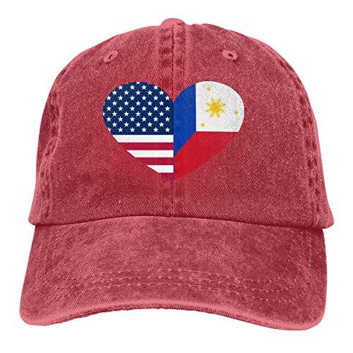 CVDGSAD Nueva Filipinas USA Bandera Corazón Cara Denim...