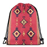 best pillow Native Fabric Geometric Design Kilim EthnicDrawstring Bag Backpack String Swim Bag Large Drawstring Sports Gym Bag,Travel Beach Bag Pack for Teens Unisex