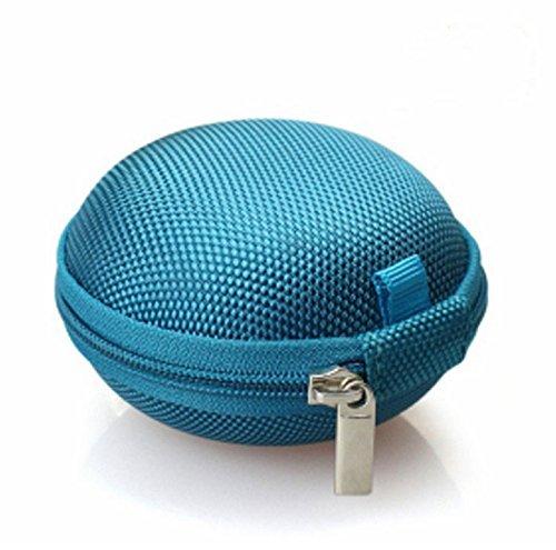 Zedtom Custodia Protettiva per Cuffie Borsa Borsetta Zip in Tela Porta Monete Custodia per Hard Drive Esterno(Multicolore)