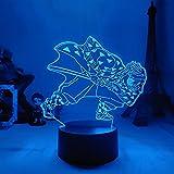 Lámpara de Ilusión 3D 16 Colores Luz de Noche Led Luz Nocturna de Anime Japonés Creativo Led Lámpara de Escritorio para Niños con Mando a Distancia Decoración de Dormitorio (Agatsuma Zenitsu)
