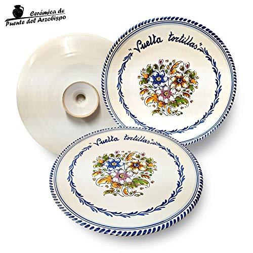 Plato vuelta tortillas de cerámica artesanal (Ø 28 cm)