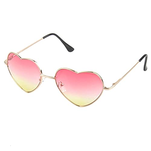 d3f2a1d3fd Dollger Beach Heart Sunglasses Girls Fancy Dress Thin Metal Frame Gold