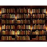 Papier peint intissé Bibliothèque 352 x 250 cm - Tapisserie Decoration Murale...