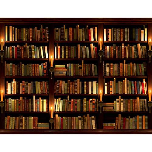 Fototapete Bibliothek Vlies Wand Tapete Wohnzimmer Schlafzimmer Büro Flur Dekoration Wandbilder XXL Moderne Wanddeko - 100{af92f96dfdaa1fe3637b2d82eba6291972222ec0d3457e32f6c77e09908ad4b7} MADE IN GERMANY - Bücher Braun Runa Tapeten 9058010a