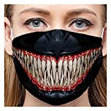 TingM 1PC Unisex Adult Funny Real Print Protective Bandana,Breathable Earloop Anti-Dust Cloth