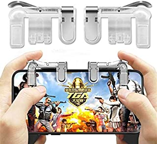 Webilla Mobile Phone Shooter Controller PUBG Game Trigger Gamepad Fire Button Handle Cell Phone Tablet Adapter for PUBG Gaming Joystick Gaming Accessory Kit Gaming Accessory Kit