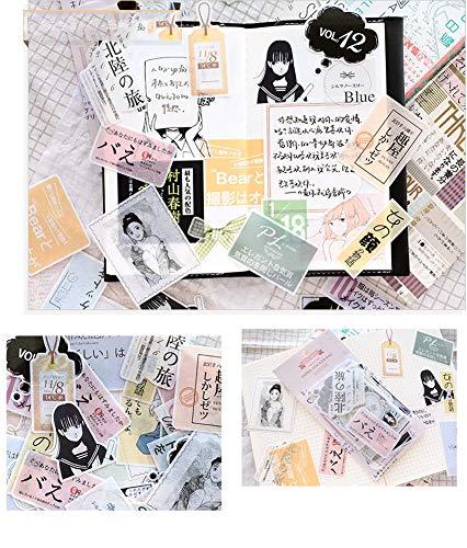 CAOLATOR Vintage Insekt Sticker Aufkleber Kinder Sticker Papier Deko Mädchen Sticker für Scrapbooking Tagebuch Notizbuch Kalender Stickerbuch Dekoration (Inseltour)