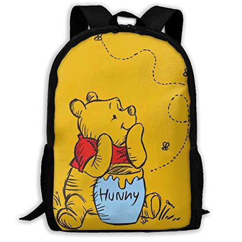 FGHJY Winnie l'ourson personnalisé Sac à Dos...