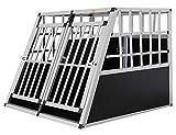 Petigi Aluminium Hundetransportbox Reisebox Gitterbox Transportbox 4 Größen, Größe:L - Doppeltür