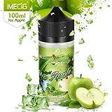 IMECIG 100 ml Vape Liquide Glace Pomme Premium Ecig Vape Jus 70/30 E Liquide pour...
