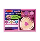 Melissa & Doug Decorate-Your-Own Wooden Heart Box by Melissa & Doug