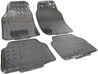 Tenzo R 16062 Auto Gummi Fußmatten universal Alu Riffelblech Optik chrom Carbon