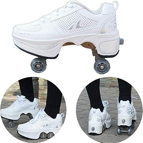 Wedsf Zapatos Multifuncionales Sneakers 2 Nl 1 Zapatos Rodillo Schoenen Quad Roller Polea Los Patines Hielo El Adulto Deportes Al Aire Libre