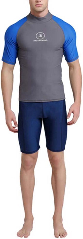 Male Swimwear Separates Diving Suit Short Sleeve Surf Suit