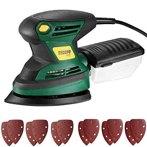 Lijadora Eléctrica, TECCPO Professional 200W Lijadora Mouse, Lijadora de Detalles, 15500 OPM,...