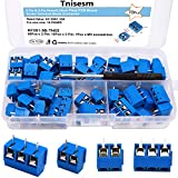 Tnisesm/70pcs 2 Pin & 3 Pin 5mm/0.2inch Pitch PCB Mount Screw Terminal Block Connector (Can be Spliced) TN-T03B