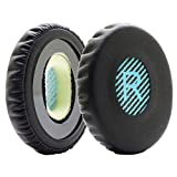 MMOBIEL Cuscinetti Auricolari di Ricambio per Cuffia Bose Sound Link On-Ear OE OE2 OE2i SoundTrue con Memory Foam (Schiuma) in Pelle proteica (Nero/Blu)