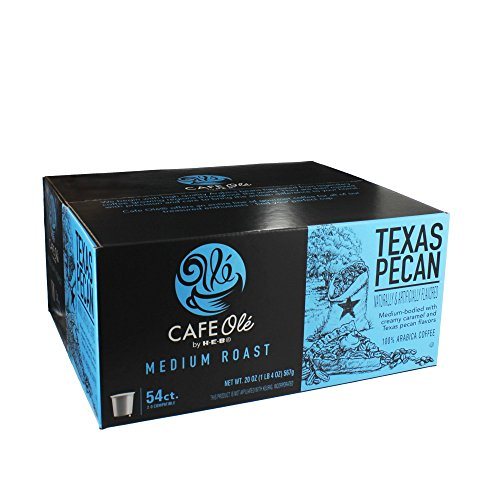 HEB cafe ole Texas pecan single serve coffee 54 count