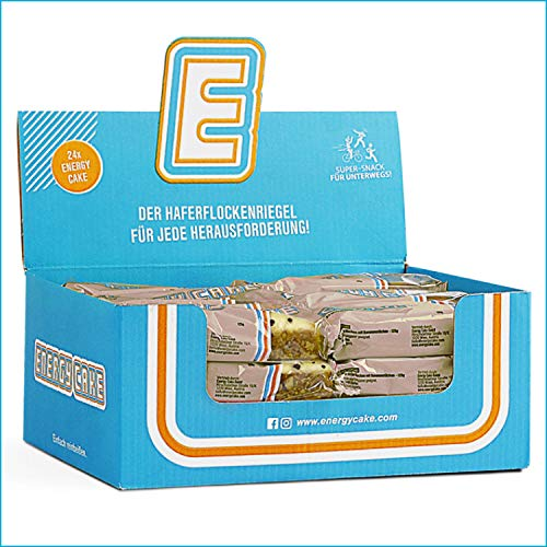 Energy Cake – Weiße Schokolade 24x 125g (3kg) - Haferflockenriegel mit saftig weicher Form, überzogen mit zart schmelzender Schokolade, aus über 50% Haferflocken für mehr Energie und weniger Hunger
