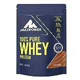 Multipower 100% Pure Whey Protein – wasserlösliches Proteinpulver mit Coffee Caramel Geschmack – Eiweißpulver mit Whey Isolate als Hauptquelle – Vitamin B6 und hohem BCAA-Anteil – 450 g -