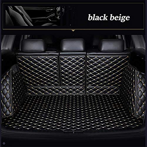 Car Boot Liner Car Boot Protector for Volvo V90 S80 Xc40 S60 Xc90 C30 Xc60 V60 S90 S40 V40 Car Boot Cover Accessories-Black Beige