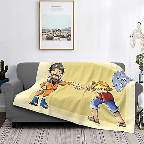 Naruto Vs One Piece Animation Design, with A Super Soft Air-Conditioning Blanket On The Bed and Sofa, Special for Home and Outdoor