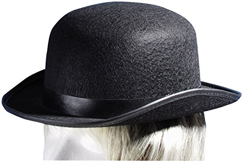Star Power Steampunk Felt Derby Bowler Adult Costume Hat, Black, One Size