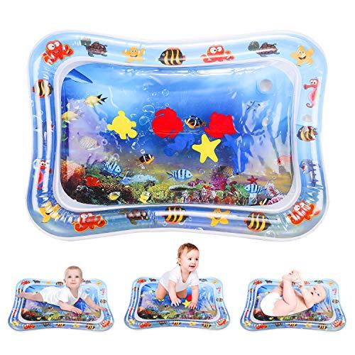 ShengRuHai 66 x 50in Alfombra Inflable con Agua,Bebés Tapete de PVC a Prueba de Fugas Inflable Alfombra de Juego de Agua para Bebés para Niños Centro de Actividades para los Recién Nacidos