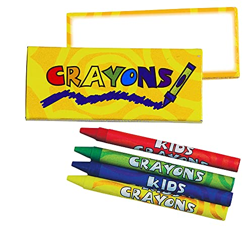 4-Pack Crayons in Yellow Box - 100 Packs
