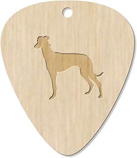 7 x 'Greyhound Silhouette' Guitar Picks / Pendants (GP00016211)