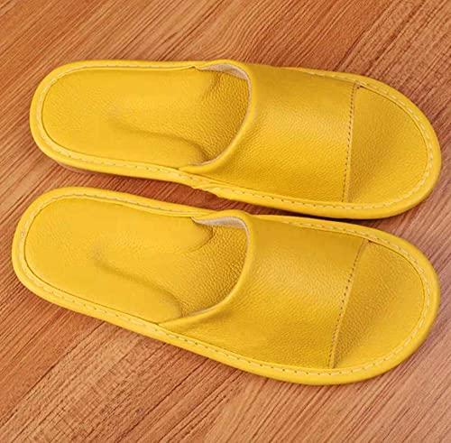 ZZLHHD Ciabatte per Massaggio ai Piedi,Anti-Slip Sandals, Home Couple Slippers-Yellow_41-42,Sandali per Massaggio con Digitopressione