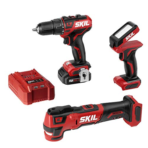 SKIL 3-Tool Combo Kit: Pwrcore 12 Brushless 12V 1/2