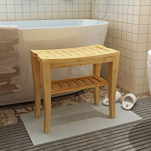Soges 47.5 x 26 x 44.5cm Taburete baño Taburete Madera