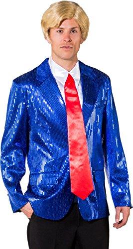 Trump Krawatte rot Politiker Kostüm Zubehör Fasching Mr. President Amerika