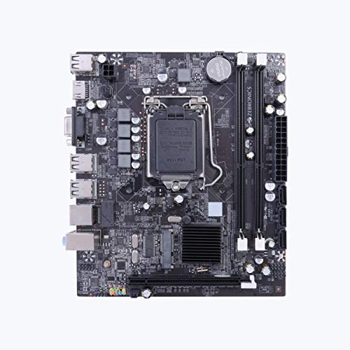 Zebronics Motherboard Zeb-Z55 With Intel H55 Chipset, Socket 1156 For Intel Core I7-800/ I5-700/ I5-600/ I3-500 Series Processors In Lga 1156