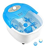 Heated Foot Spa Bath with Bubble Massage, Pedicure Attachments, Vibration for Fatigue Relief FBM605