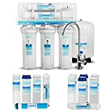 Geekpure 5-Stage Reverse Osmosis Drinking Water Filter System-Plus Extra 7 Filters for Free-75GPD