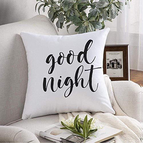 Throw Pillow Cover Frase Sleep Good Night Inscripción Alfabeto gráfico Script Diseño de Pizarra Abstracta Palabra Latina Cojines Decorativos Funda para sofá Sofá Dormitorio Coche Ropa de Cama