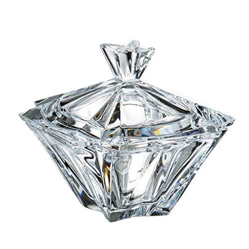 la galaica | Bombonera de Cristal - para Caramelos o Dulces - de Bohemia - Colección Metropolitan - 12,5x12,5x12 cm. Decoracion