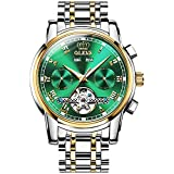 Verhux Reloj Automático de Pulsera Acero Inoxidable Impermeables Tourbillon Mecánico Regalos de Relojes para Hombres