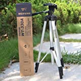 [Lightweight & Pratical] - This camera tripod is made of high quality aluminum alloy, light and durable, weighing only 2.4lb. Perfect tripod for taking photos in party, hiking, sightseeing or camping. [3-Way Heads] - 360-degree rotation allows you to...