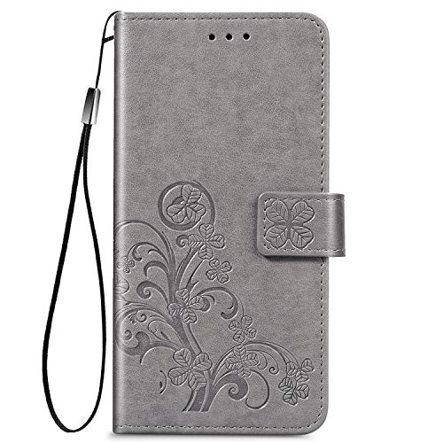 Leather Wallet Case for OPPO Realme 5/5S/5i/6i/C3 PU Leather Magnetic Flip Cover with Card Slots Holders Bookstyle Wallet Case for OPPO Realme 5/5S/5i/6i/C3 - JESD070322 Grey