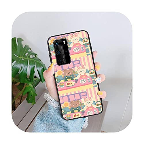 Funda linda del teléfono del oso de la historieta para Huawei Mate 9 10 20 Nova 2i 3i Y5 7 9s Silicona-a9-para mate 9