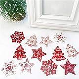 12 piezas clásicas nórdicas árbol de Navidad colgante decoraciones (adornado)
