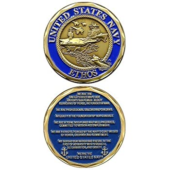 United States Military US Armed Forces Navy Ethos Creedo Good Luck Double Sided Collectible Challenge Pewter Coin SG/_B0082ZDIHC/_US
