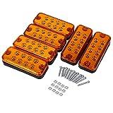 Dibiao 6Pcs / Set Universal 8 LED Marker Liquidación Luz indicadora de luz lateral Indicadores laterales para 12V Camión Remolque Camión, Sellado Remolque Led Espacio y Lateral (Color : Yellow)