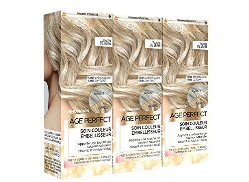 L'Oréal Paris Age Perfect Soin Couleur Embellisseur Touche de Beige 80 ml - Lot de 3