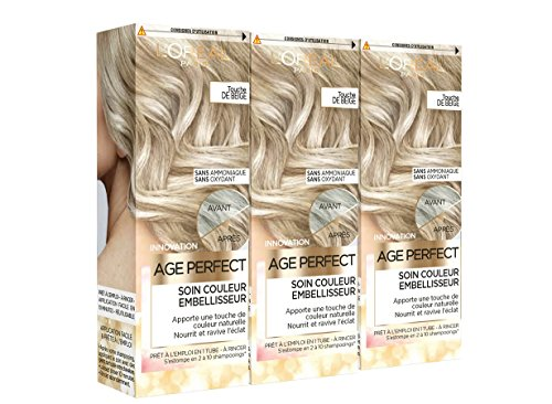 L'Oréal Paris Age Perfect Soin Couleur Embellisseur Touche de Beige 80 ml - Lot de 3